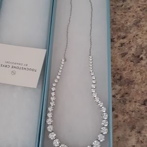 Touchstone crystal. Everlasting necklace